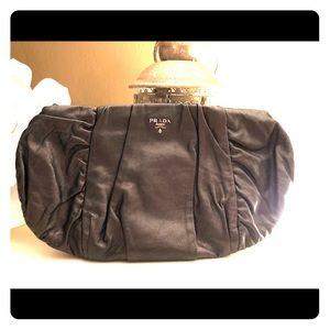Authentic Prada leather clutch